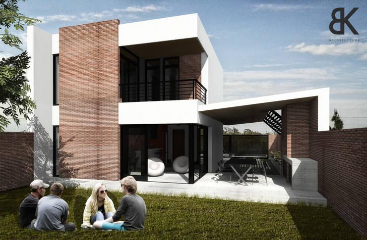 Patio - Etapa 2: Jardines de estilo  por EKOPP obras & arquitectura,