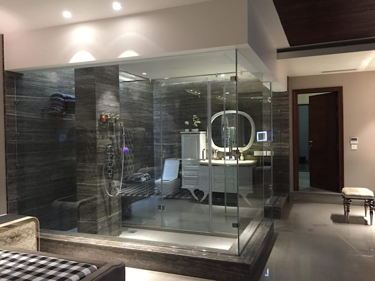 Project of Rajguru Nagar: modern Bathroom by QBIX DESIGNS
