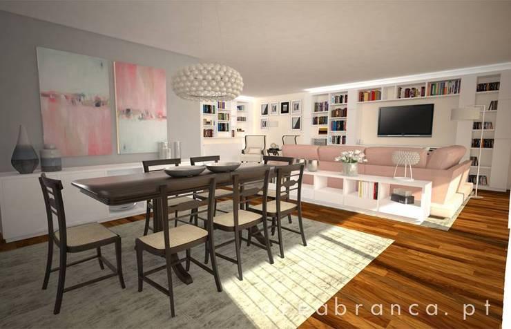 Projeto Sala JM: Salas de jantar  por Areabranca