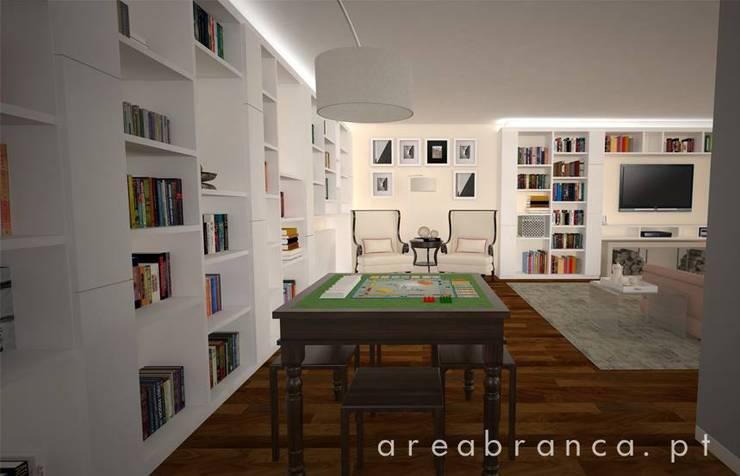 Projeto Sala JM: Salas de estar  por Areabranca