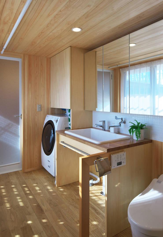 アトリエのある小さな家 オリジナルスタイルの お風呂 の かんばら設計室 オリジナル