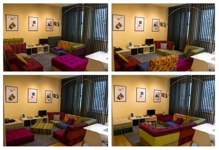 Living room by garcia navalon arquitecto