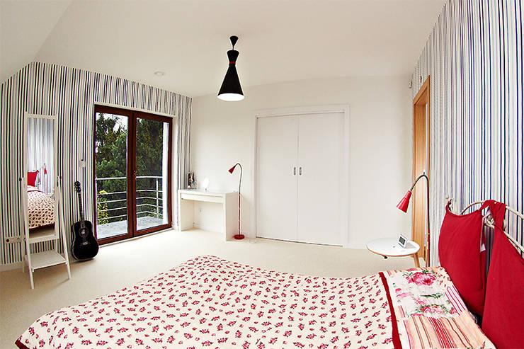 Realizacja projektu Amelia: styl , w kategorii Sypialnia zaprojektowany przez Biuro Projektów MTM Styl - domywstylu.pl