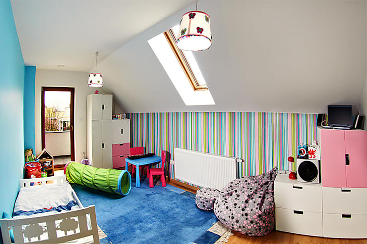 Realizacja projektu Amelia: styl , w kategorii Pokój dziecięcy zaprojektowany przez Biuro Projektów MTM Styl - domywstylu.pl