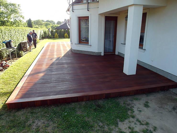 Taras drewniany. Realizacja w Gorzowie Wlkp.: styl , w kategorii  zaprojektowany przez PHU Bortnowski
