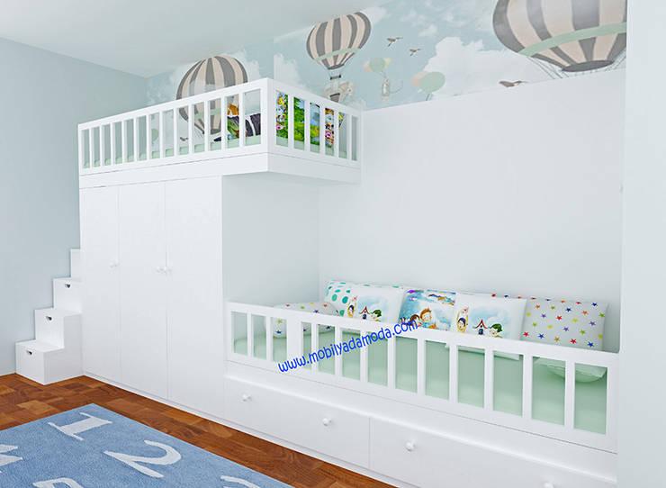 MOBİLYADA MODA  – Özel Tasarım Ranza:  tarz Çocuk Odası, Modern Ahşap Ahşap rengi