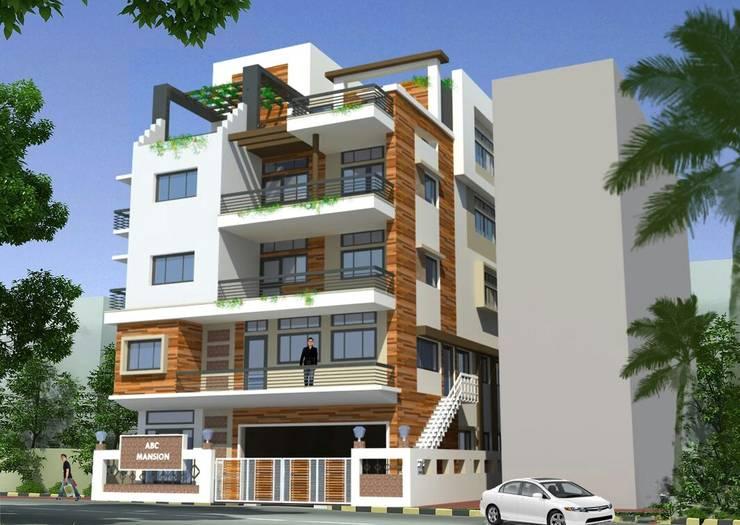 A.K. Singh residence :  Houses by Nirman Architects ,Asian Bricks