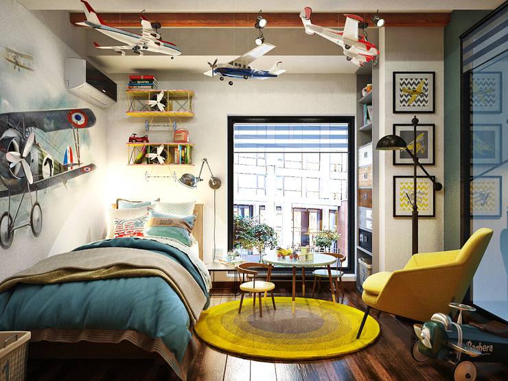 industrial Nursery/kid's room by Студия дизайна Interior Design IDEAS