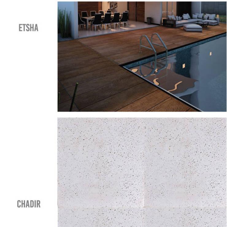 ETSHA & GEVUL: Piscinas minimalistas por MAGEN | Revestimentos Cimentícios