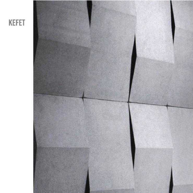 Kefet: Casas minimalistas por MAGEN | Revestimentos Cimentícios