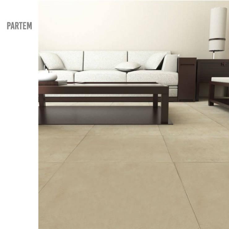 Partem: Salas de estar minimalistas por MAGEN | Revestimentos Cimentícios