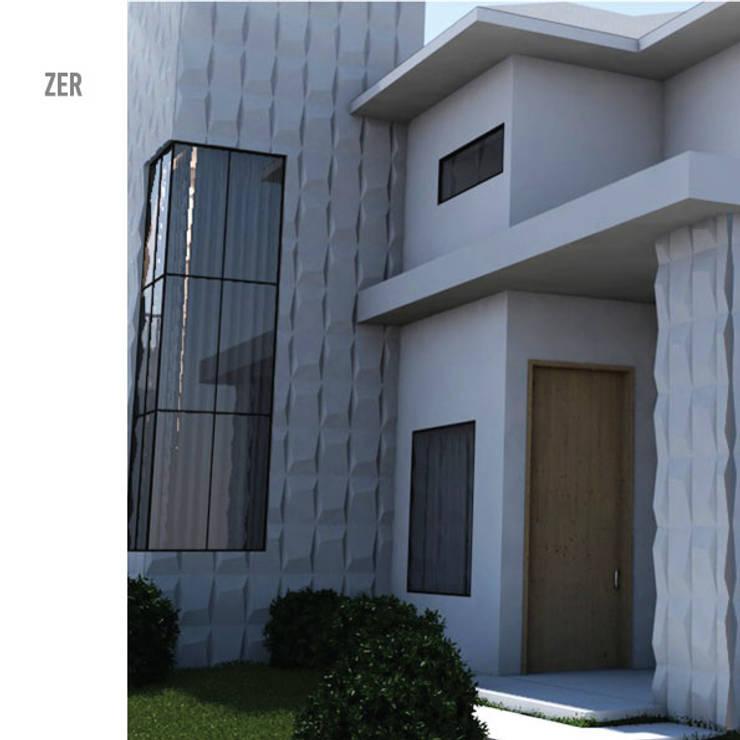 Zer: Casas minimalistas por MAGEN | Revestimentos Cimentícios