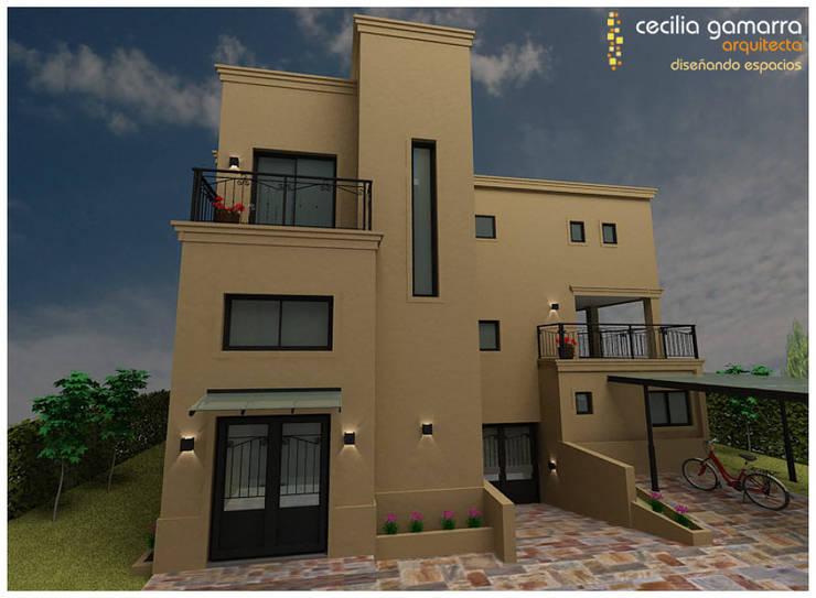 Casa en Pilar:  de estilo  por Diseñando Espacios