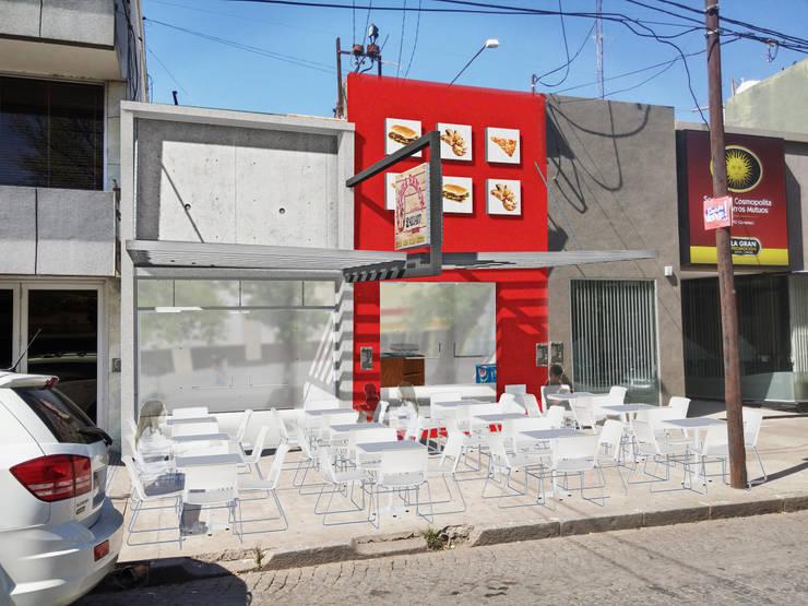 Fachada Local Pizzeria : Estudios y oficinas de estilo  por T.F | ARQuitectura y DIseño