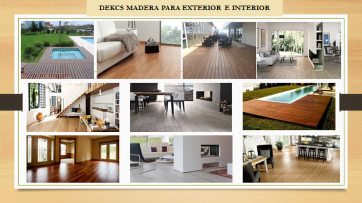 DECK: Paredes y pisos de estilo  por ENFOQUE CONSTRUCTIVO