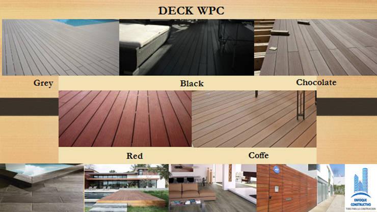 MODELOS DE DECK WPC: Paredes y pisos de estilo  por ENFOQUE CONSTRUCTIVO