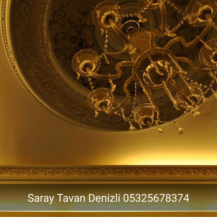 SARAY TAVAN DENİZLİ 05325678374 – osmanlı tavan:  tarz , Klasik Ahşap-Plastik Kompozit