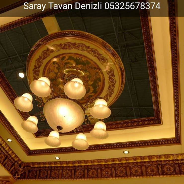 SARAY TAVAN DENİZLİ 05325678374 – ps artistic ceiling:  tarz , Klasik