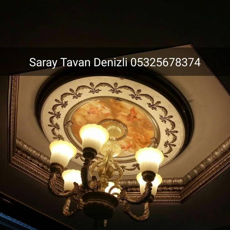 SARAY TAVAN DENİZLİ 05325678374 – plastik tavan dekor:  tarz , Klasik Ahşap-Plastik Kompozit