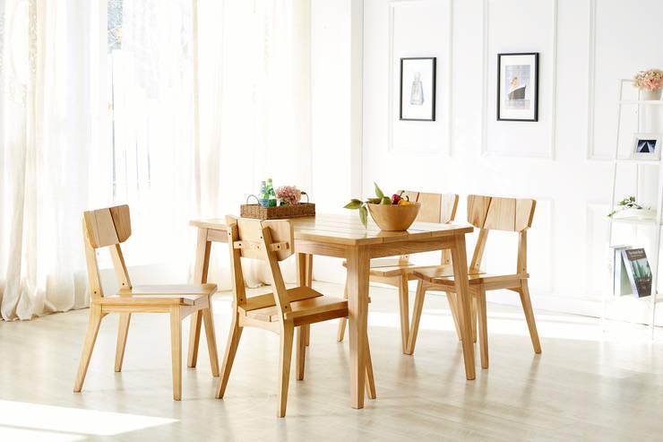 Dorothy 4.0 Dining Table Set: Mobel-Carpenter 모벨카펜터의 지중해 ,지중해 우드 우드 그레인