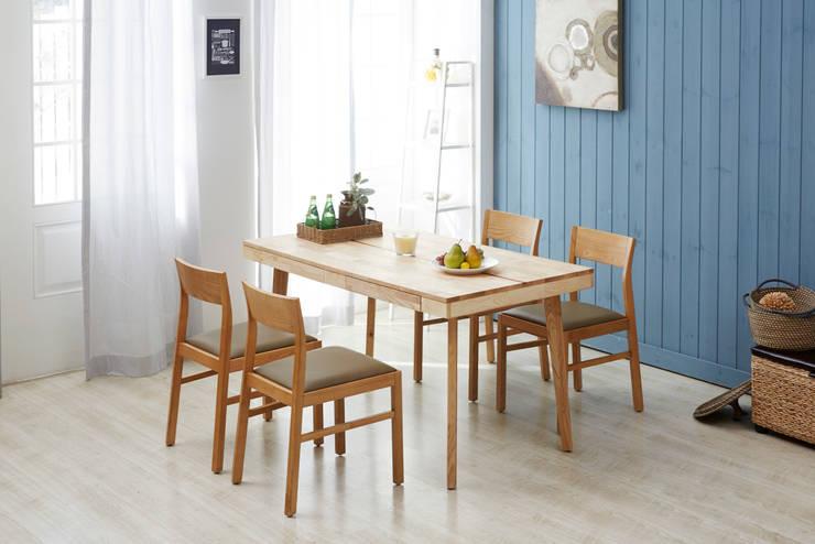 Chin-Chin Cue 4.0 Dining Table Set: Mobel-Carpenter 모벨카펜터의 지중해 ,지중해 우드 우드 그레인