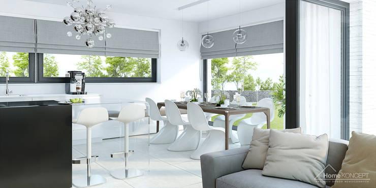 Salle à manger de style de style Moderne par HomeKONCEPT | Projekty Domów Nowoczesnych