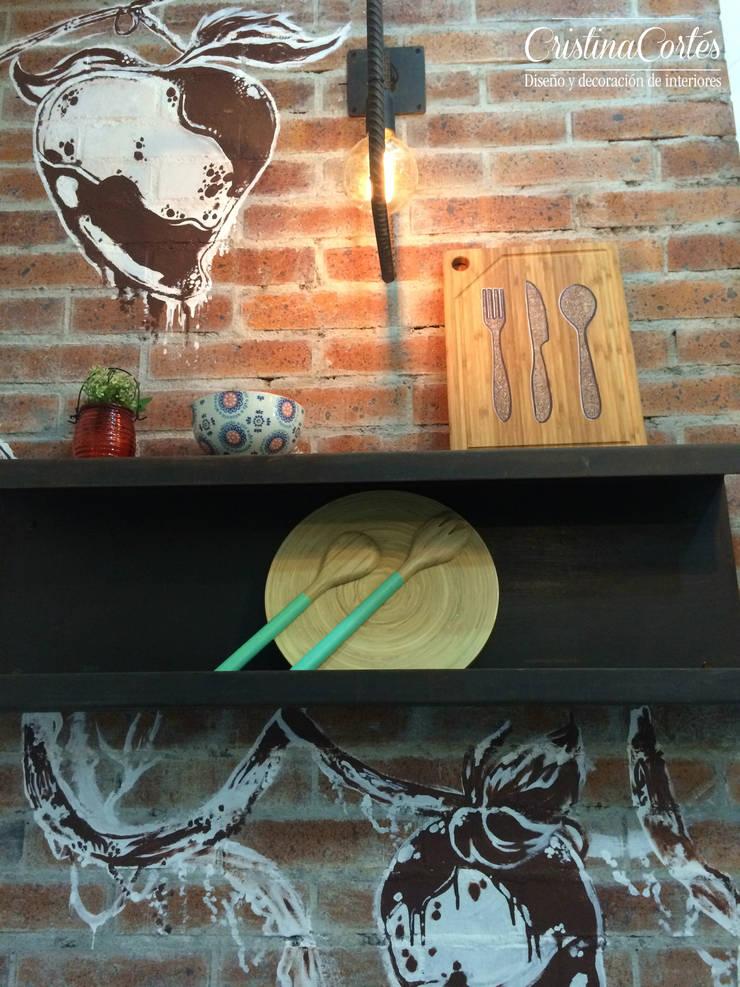 Decoración : Locales gastronómicos de estilo  por Cristina Cortés Diseño y Decoración , Industrial