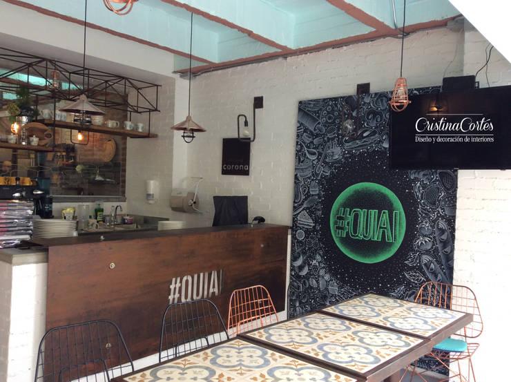 Punto de venta: Locales gastronómicos de estilo  por Cristina Cortés Diseño y Decoración , Industrial