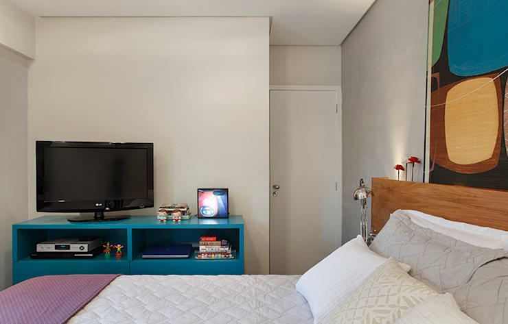 Residência Botafogo - Quarto: Quartos  por Adoro Arquitetura