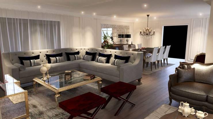 VERO CONCEPT MİMARLIK – Karadavut Villa:  tarz Oturma Odası