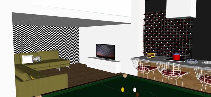 Salas / recibidores de estilo  por T_C_Interior_Design___, Moderno