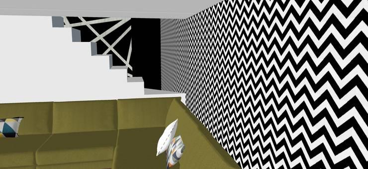 Pasillos y vestíbulos de estilo  por T_C_Interior_Design___, Moderno