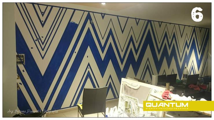6. Animandonos al  azul.: Livings de estilo  por Betiana Denardi | Arquitecta