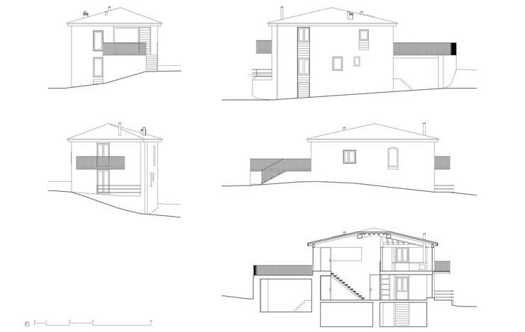 b+t arquitectos: kırsal tarz tarz Evler