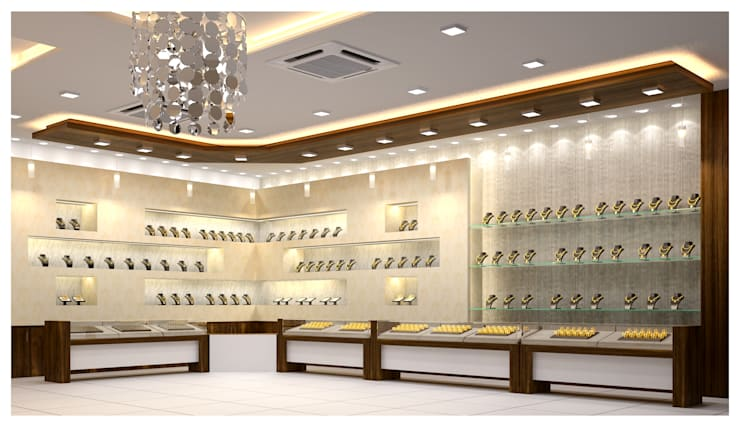 jewelry shop interior:  Houses by anss crafters,Modern