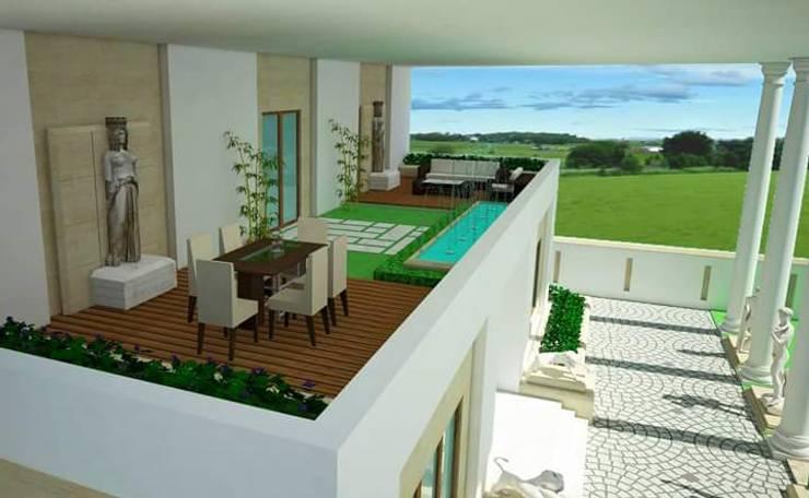 Villa in Jodhpur:   by CREATIVE ARCHITECTURE & DESIGN