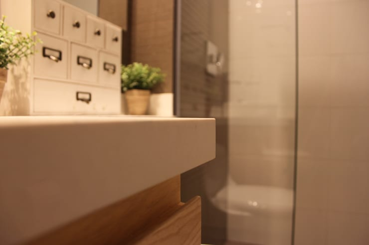 Baño de Habitaciones: Baños de estilo  por Home Reface - Diseño Interior CDMX
