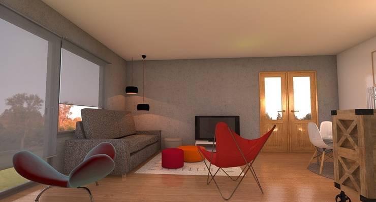 UN SALON CON TOQUES INDUSTRIALES: Salones de estilo  de Tu Casa Home Staging