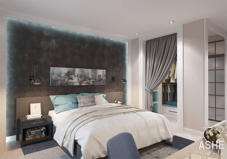 غرفة نوم تنفيذ Студия авторского дизайна ASHE Home