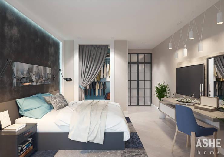 Квартира в ЖК Сосны: Спальни в . Автор – Студия авторского дизайна ASHE Home