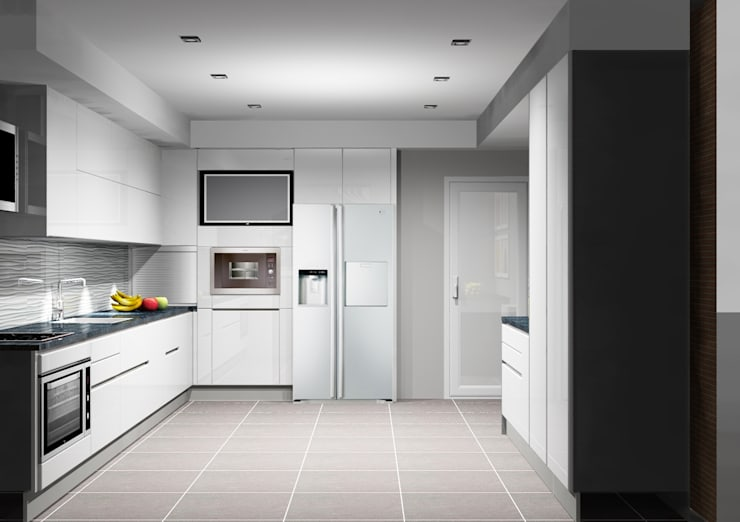 Cozinha:   por Amplitude - Mobiliário lda