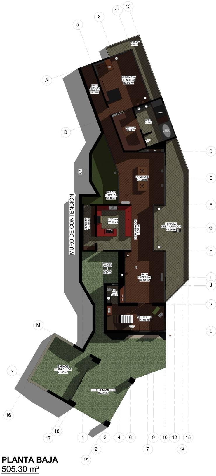 Residencia en el Lago: Casas de estilo  por Arq. Rodrigo Culebro Sánchez