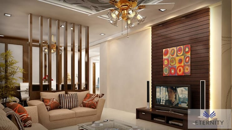 Interior design:  Living room by Eternity Designers,Modern