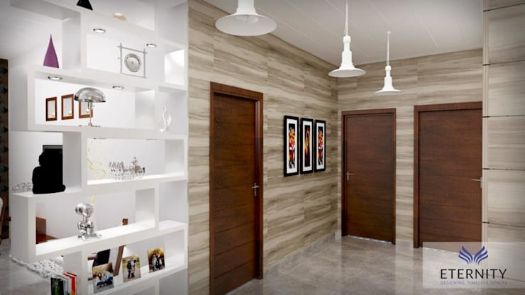 Interior design:  Corridor & hallway by Eternity Designers,Modern