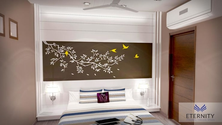 Interior design:  Bedroom by Eternity Designers,Modern