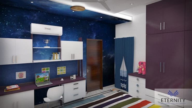 Interior design:  Study/office by Eternity Designers