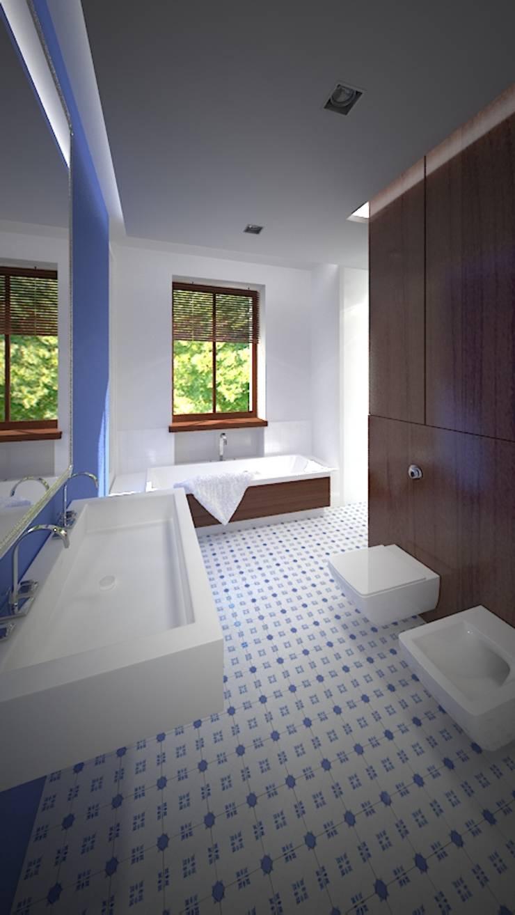 Baños de estilo  por EYMONTT PRACOWNIA AUTORSKA, Moderno