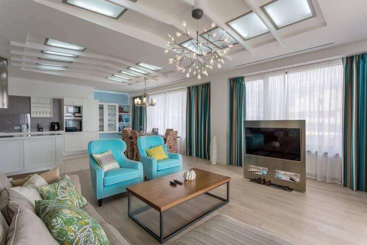 Living room by Bellarte interior studio