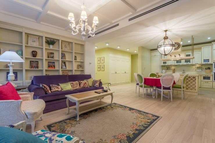 غرفة المعيشة تنفيذ Bellarte interior studio