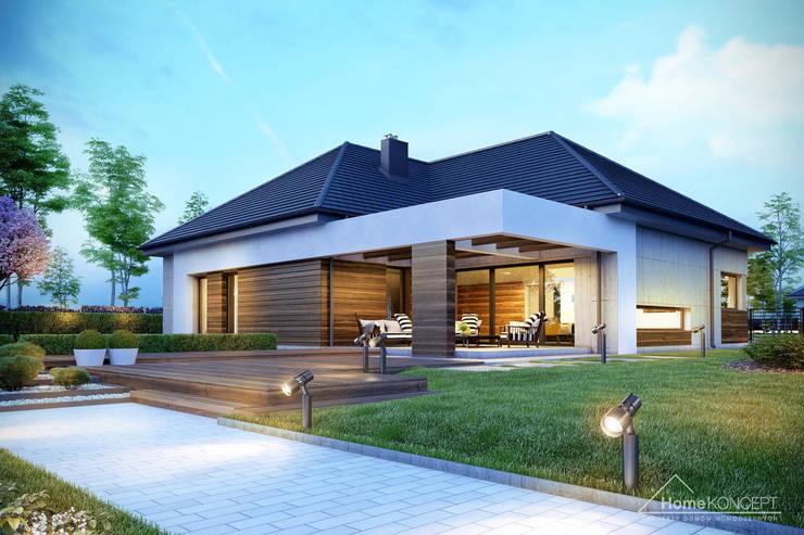Casas estilo moderno: ideas, arquitectura e imágenes de HomeKONCEPT | Projekty Domów Nowoczesnych Moderno
